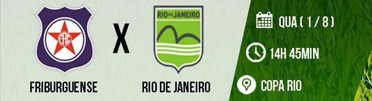1- FRIBURGUENSE X RIO DE JANEIRO